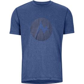 Marmot Transporter Koszulka z krótkim rękawem Mężczyźni, varsity blue heather